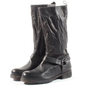 Vintage Foundry Madison Mid Calf Leather Boots BLK